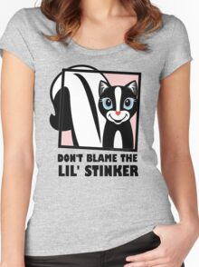DON'T BLAME THE LIL' STINKER Women's Fitted Scoop T-Shirt