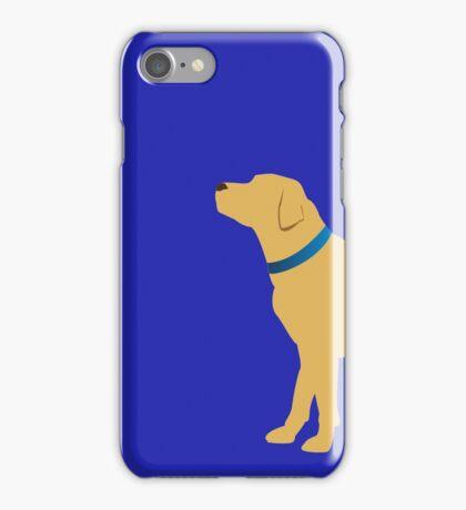 Golden Labrador - Navy Collar iPhone Case/Skin