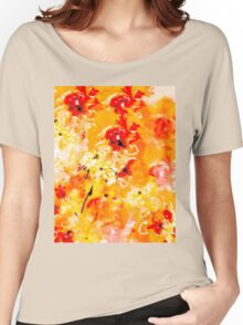 Hibiscus Impressionist Series Women's Relaxed Fit T-Shirt