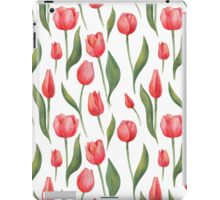 Watercolor Red Tulips iPad Case/Skin