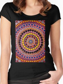 Hand Painted Mandala Women's Fitted Scoop T-Shirt