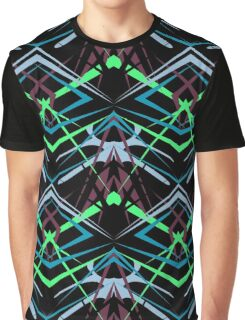 Seamless abstract geometric texture pattern on black Graphic T-Shirt