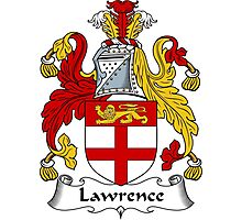 Lawrence Coat of Arms / Lawrence Family Crest Photographic Print
