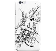 Along Those Lines - Pen & Ink Illustration iPhone Case/Skin