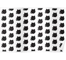 Polka Cats Poster