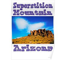 Clouds Over Superstition Mountain Poster