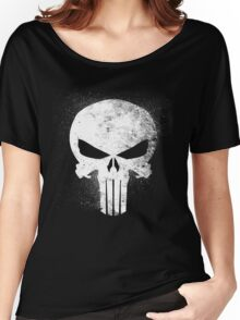 Punisher Grunge  Women's Relaxed Fit T-Shirt