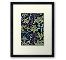 dark herbs pattern Framed Print