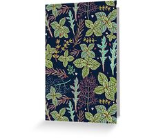 dark herbs pattern Greeting Card