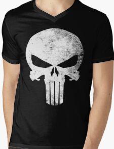 Punisher Grunge Mens V-Neck T-Shirt