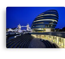 Tower Bridge and City Hall Canvas Print