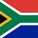 South African Flag Stickers by Mark Podger