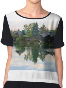 Zen Huts Reflection Chiffon Top
