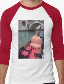 ....come and see Venice in my Gondola.... Men's Baseball ¾ T-Shirt