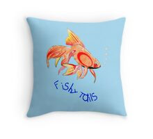 Lots of Fishy Tails T-shirt, etc. design Throw Pillow