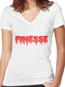 finesse Women's Fitted V-Neck T-Shirt