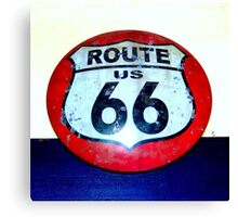 route 66 road sign Canvas Print