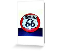 route 66 road sign Greeting Card