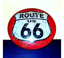route 66 road sign Photographic Print