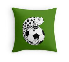 Soccer  Chameleon  Throw Pillow