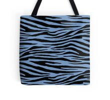 0186 Dark Pastel Blue Tiger Tote Bag