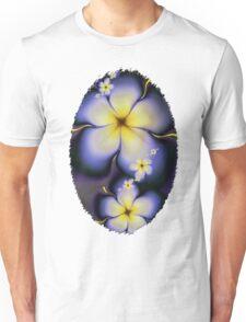 Petite Fleur Jaune Fractal Unisex T-Shirt