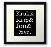 Kruk - Kuip - Jon-  Dave Framed Print