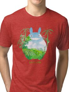Green Totoro Tri-blend T-Shirt