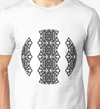Lace Embroidery Design Unisex T-Shirt