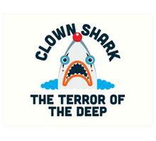Clown Shark - Terror of the Deep Art Print