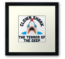 Clown Shark - Terror of the Deep Framed Print