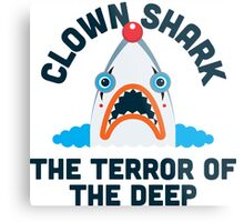 Clown Shark - Terror of the Deep Metal Print