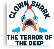 Clown Shark - Terror of the Deep Canvas Print