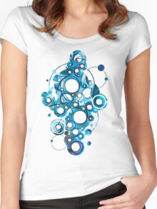 Medium Hadron Collider - Watercolor Painting Women's Fitted Scoop T-Shirt