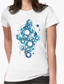 Medium Hadron Collider - Watercolor Painting Womens Fitted T-Shirt