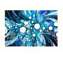 Medium Hadron Collider - Watercolor Painting Art Print