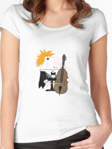 Double Bass Player  Women's Fitted Scoop T-Shirt