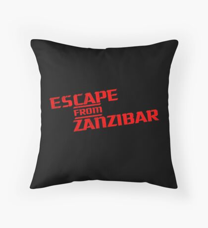 MGS - Escape From Zanzibar Throw Pillow