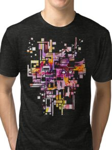 Sunberry - Abstract Watercolor Painting Tri-blend T-Shirt