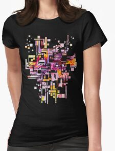 Sunberry - Abstract Watercolor Painting Womens Fitted T-Shirt