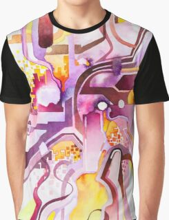 Sunberry - Abstract Watercolor Painting Graphic T-Shirt