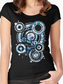 Sub-Atomic Stress Release Therapy - Watercolor Painting Women's Fitted Scoop T-Shirt