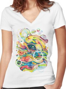 Timeless June 26 2007 - Watercolor Painting Women's Fitted V-Neck T-Shirt