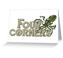Four Corners colour logo - for light backgrounds Greeting Card