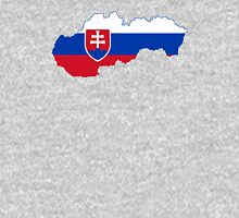 Flag Map of Slovakia  Unisex T-Shirt