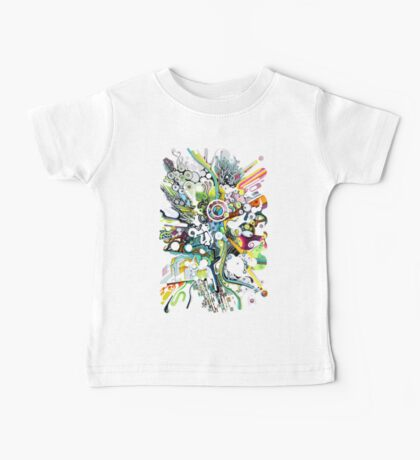 Tubes of Wonder - Abstract Watercolor + Pen Illustration Baby Tee