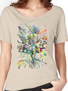 Tubes of Wonder - Abstract Watercolor + Pen Illustration Women's Relaxed Fit T-Shirt