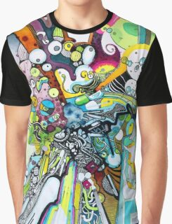 Tubes of Wonder - Abstract Watercolor + Pen Illustration Graphic T-Shirt