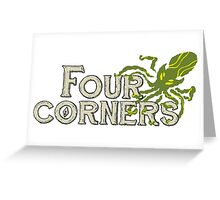 Four Corners colour logo - for dark backgrounds Greeting Card