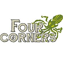 Four Corners colour logo - for dark backgrounds Photographic Print